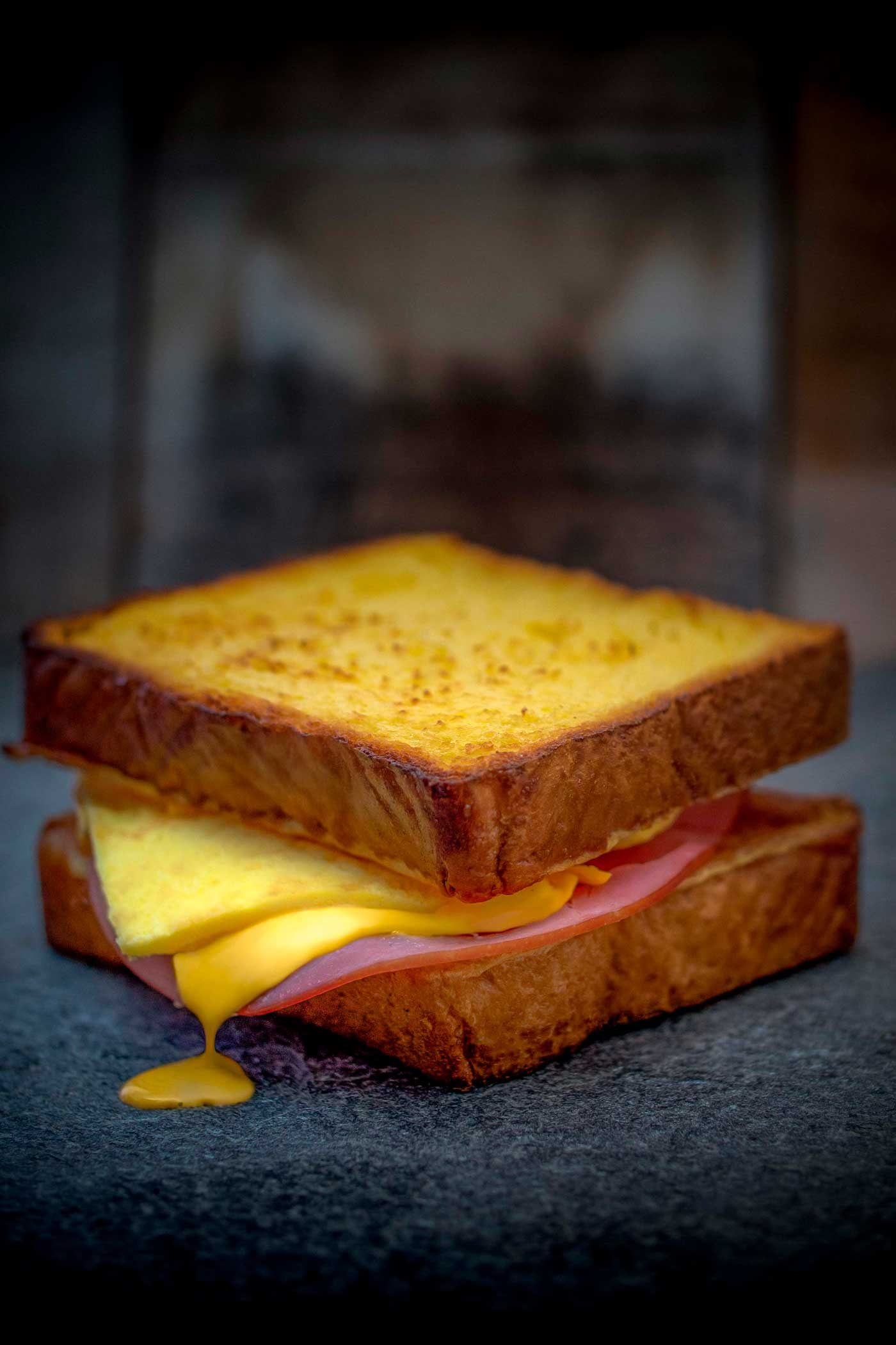 Ham, Egg & Cheese Sweetbread Sandwich